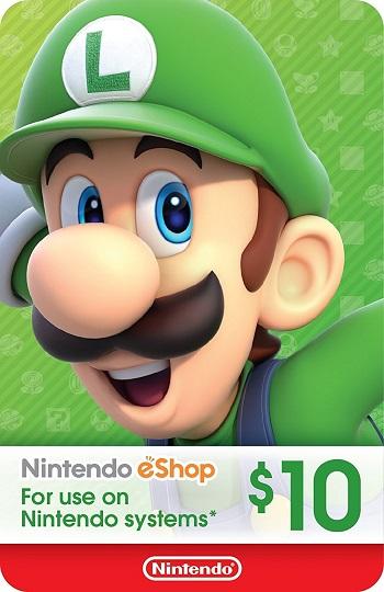 $10 Nintendo eShop Gift Card.