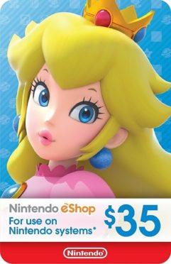 $35 Nintendo eShop Gift Card.