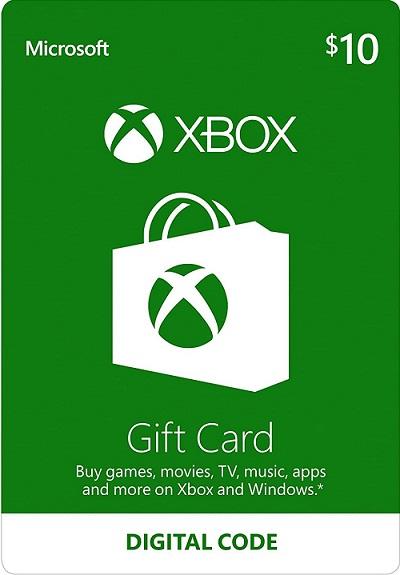 10 Xbox Gift Card